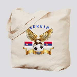 Serbia Football Design Tote Bag